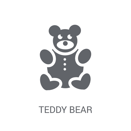 Teddy bear icon. Trendy Teddy bear logo concept on white background from Birthday party and wedding collection. Suitable for use on web apps, mobile apps and print media.