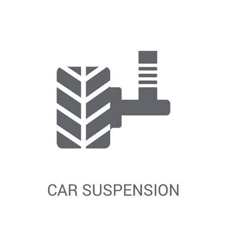 car suspension icon. Trendy car suspension logo concept on white background from car parts collection. Suitable for use on web apps, mobile apps and print media. Logó