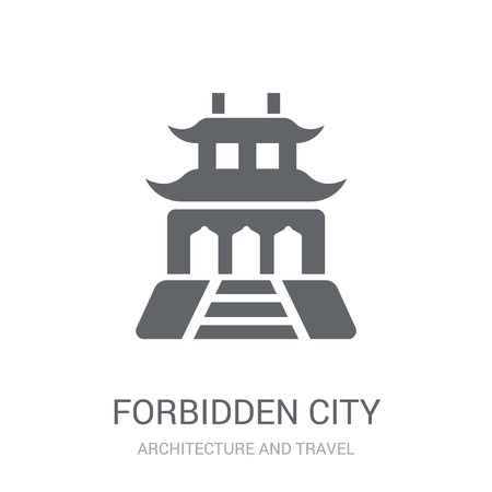 Forbidden city icon. Trendy Forbidden city logo concept on white background from Architecture and Travel collection. Suitable for use on web apps, mobile apps and print media.