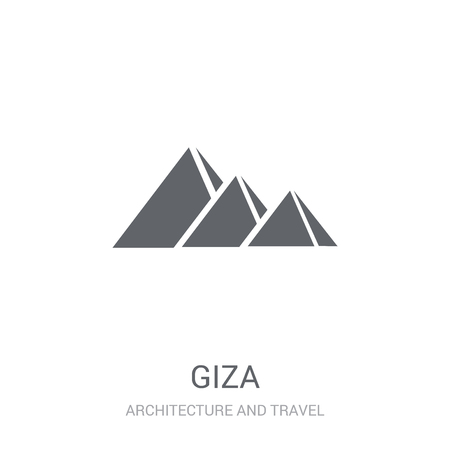 Giza icon. Trendy Giza logo concept on white background from Architecture and Travel collection. Suitable for use on web apps, mobile apps and print media.