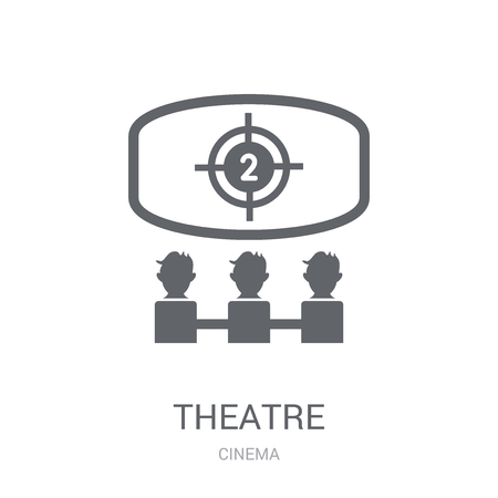 Theatre icon. Trendy Theatre logo concept on white background from Cinema collection. Suitable for use on web apps, mobile apps and print media. Illustration