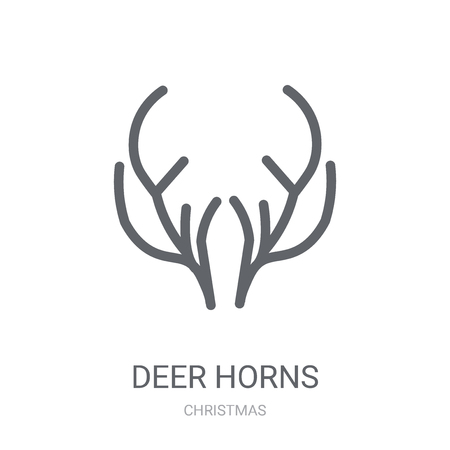 Deer horns icon. Trendy Deer horns logo concept on white background from Christmas collection. Suitable for use on web apps, mobile apps and print media.