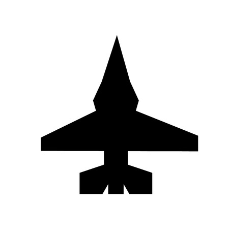 fighter plane icon. Trendy fighter plane logo concept on white background from army and war collection. Suitable for use on web apps, mobile apps and print media. Illustration