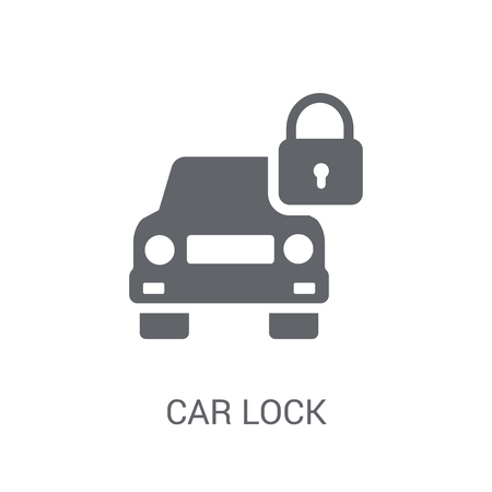 car lock icon. Trendy car lock logo concept on white background from car parts collection. Suitable for use on web apps, mobile apps and print media.