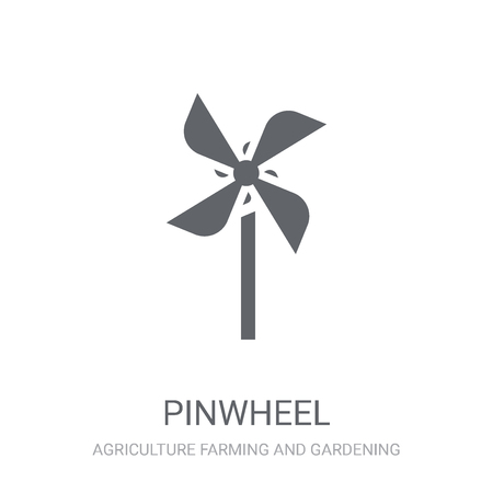 Pinwheel icon. Trendy Pinwheel logo concept on white background from Agriculture Farming and Gardening collection. Suitable for use on web apps, mobile apps and print media.