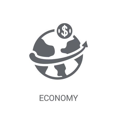 Economy icon. Trendy Economy logo concept on white background from Cryptocurrency economy and finance collection. Suitable for use on web apps, mobile apps and print media.