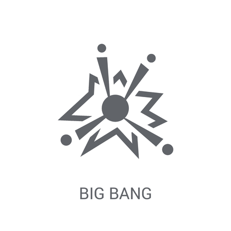 Big bang icon. Trendy Big bang logo concept on white background from Astronomy collection. Suitable for use on web apps, mobile apps and print media. Ilustração