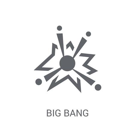 Icône de big bang. Concept de logo Big bang branché sur fond blanc de la collection d'astronomie. Convient pour une utilisation sur des applications Web, des applications mobiles et des supports imprimés.