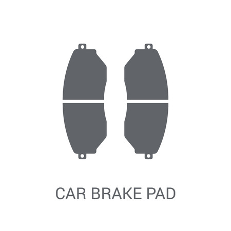 car brake pad icon. Trendy car brake pad logo concept on white background from car parts collection. Suitable for use on web apps, mobile apps and print media.