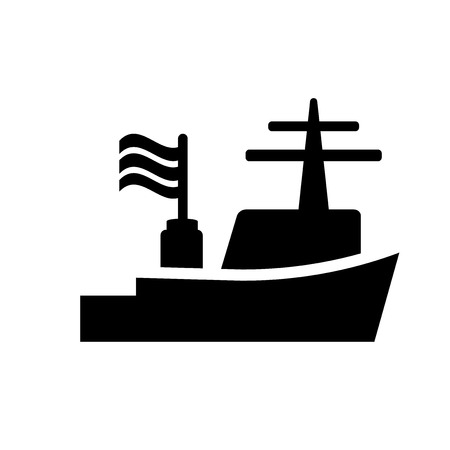 Warship icon. Trendy Warship logo concept on white background from army and war collection. Suitable for use on web apps, mobile apps and print media. Logo