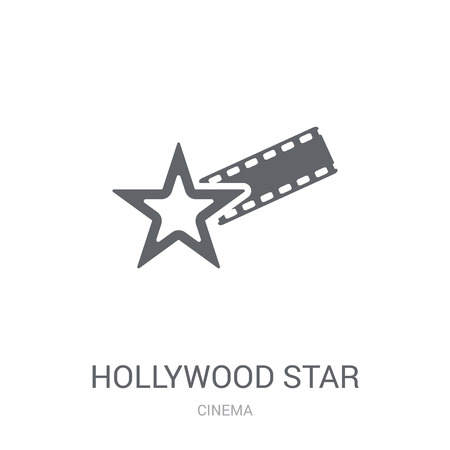 Hollywood Star icon. Trendy Hollywood Star logo concept on white background from Cinema collection. Suitable for use on web apps, mobile apps and print media. 写真素材 - 111989034