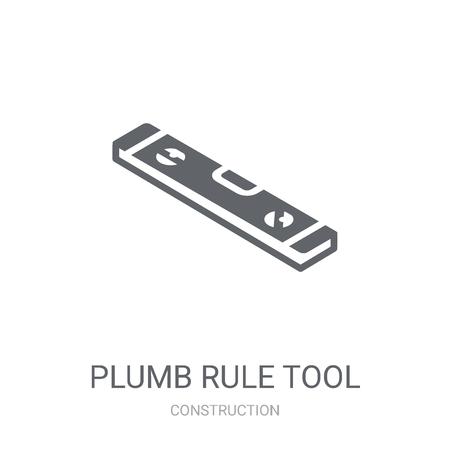 Icona dello strumento regola a piombo. Concetto di marchio trendy strumento regola piombo su priorità bassa bianca da collezione di costruzione. Adatto per l'uso su app Web, app mobili e supporti di stampa.