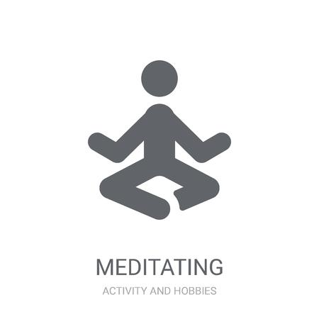 Icono de meditación. Moda concepto de logo de meditación sobre fondo blanco de la colección de actividades y pasatiempos. Adecuado para su uso en aplicaciones web, aplicaciones móviles y medios impresos.