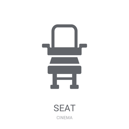 Seat icon. Trendy Seat logo concept on white background from Cinema collection. Suitable for use on web apps, mobile apps and print media.