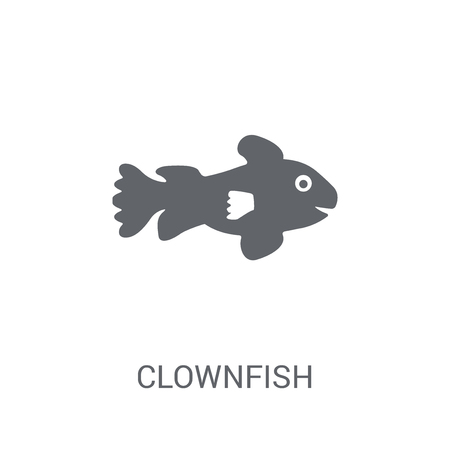 Clownfish icon. Trendy Clownfish logo concept on white background from animals collection. Suitable for use on web apps, mobile apps and print media. Foto de archivo - 111989043