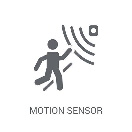 Icône de capteur de mouvement. Concept de logo de capteur de mouvement tendance sur fond blanc de la collection Intelligence artificielle. Convient pour une utilisation sur des applications Web, des applications mobiles et des supports imprimés. Logo