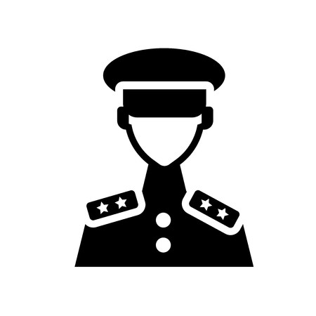 lieutenant icon. Trendy lieutenant logo concept on white background from army and war collection. Suitable for use on web apps, mobile apps and print media. Illustration