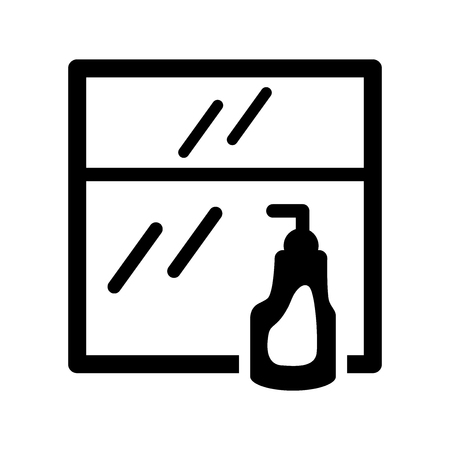 Window cleaner icon. Trendy Window cleaner logo concept on white background from cleaning collection. Suitable for use on web apps, mobile apps and print media. Çizim