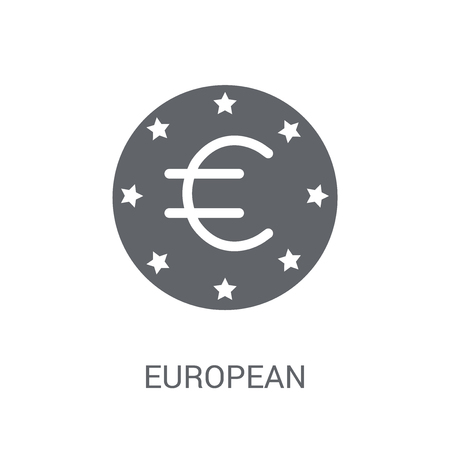 European Central Bank icon. Trendy European Central Bank logo concept on white background from business collection. Suitable for use on web apps, mobile apps and print media. 일러스트