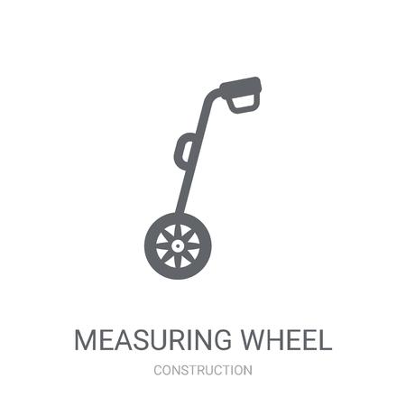 Messrad-Symbol. Trendiges Messrad-Logo-Konzept auf weißem Hintergrund aus der Baukollektion. Geeignet für den Einsatz in Web-Apps, mobilen Apps und Printmedien.
