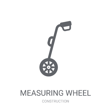 Measuring wheel icon. Trendy Measuring wheel logo concept on white background from Construction collection. Suitable for use on web apps, mobile apps and print media. Illustration