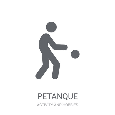 Petanque icon. Trendy Petanque logo concept on white background from Activity and Hobbies collection. Suitable for use on web apps, mobile apps and print media. Illustration