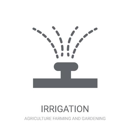 Icono de riego. Moda concepto de logo de riego sobre fondo blanco de la colección agricultura agricultura y jardinería. Adecuado para su uso en aplicaciones web, aplicaciones móviles y medios impresos.