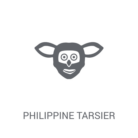 Philippine tarsier icon. Trendy Philippine tarsier logo concept on white background from animals collection. Suitable for use on web apps, mobile apps and print media.
