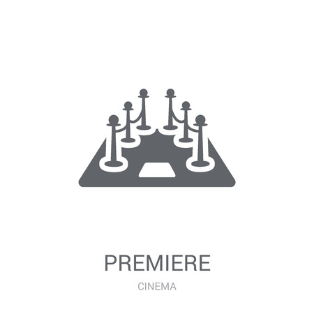 Premiere icon. Trendy Premiere logo concept on white background from Cinema collection. Suitable for use on web apps, mobile apps and print media.