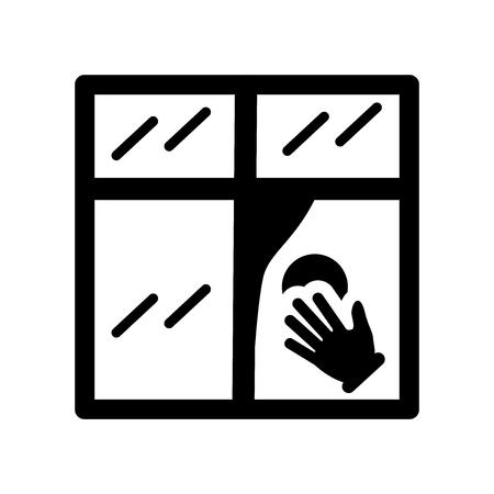Icono de limpieza de vidrio. Concepto de logotipo de limpieza de vidrio de moda sobre fondo blanco de la colección de limpieza. Adecuado para su uso en aplicaciones web, aplicaciones móviles y medios impresos.