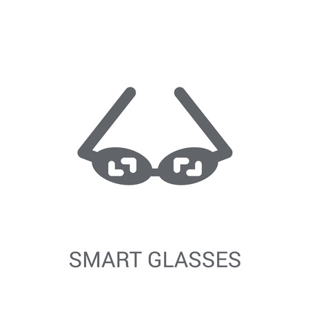 Smart glasses icon. Trendy Smart glasses logo concept on white background from Artificial Intelligence collection. Suitable for use on web apps, mobile apps and print media.