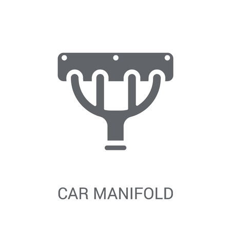 car manifold icon. Trendy car manifold logo concept on white background from car parts collection. Suitable for use on web apps, mobile apps and print media. Logo