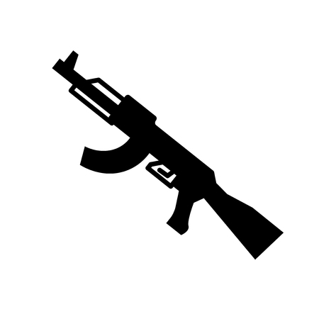 Sub machine gun icon. Trendy sub machine gune logo concept on white background from army and war collection. Suitable for use on web apps, mobile apps and print media.