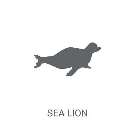Sea lion icon. Trendy Sea lion logo concept on white background from animals collection. Suitable for use on web apps, mobile apps and print media. Vectores