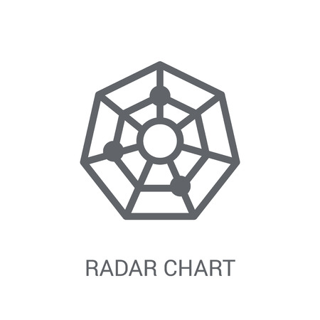 radar chart icon. Trendy radar chart logo concept on white background from Business and analytics collection. Suitable for use on web apps, mobile apps and print media.