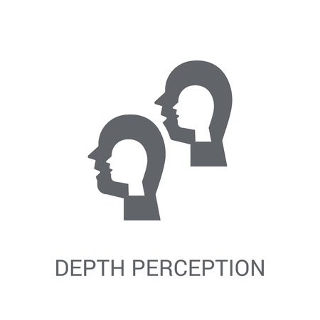 Depth perception icon. Trendy Depth perception logo concept on white background from Artificial Intelligence collection. Suitable for use on web apps, mobile apps and print media.