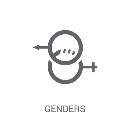 Genders icon. Trendy Genders logo concept on white background from Birthday party and wedding collection. Suitable for use on web apps, mobile apps and print media. 矢量图像