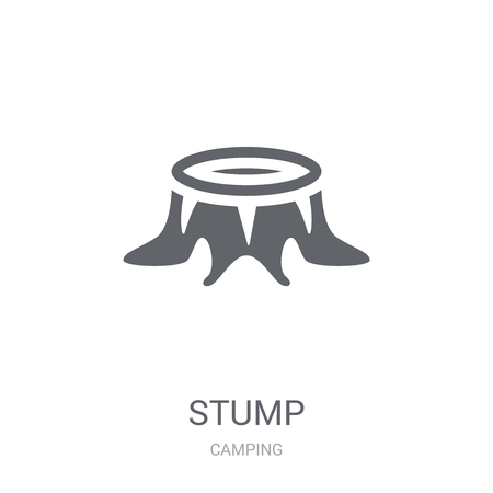 Stump icon. Trendy Stump logo concept on white background from camping collection. Suitable for use on web apps, mobile apps and print media.