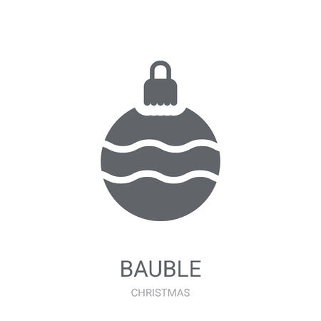 Bauble icon. Trendy Bauble logo concept on white background from Christmas collection. Suitable for use on web apps, mobile apps and print media.