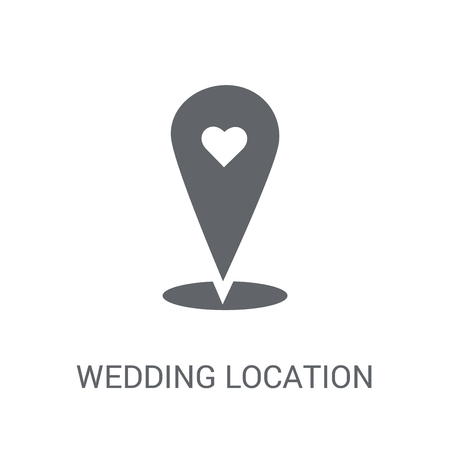 Wedding Location icon. Trendy Wedding Location logo concept on white background from Birthday party and wedding collection. Suitable for use on web apps, mobile apps and print media.
