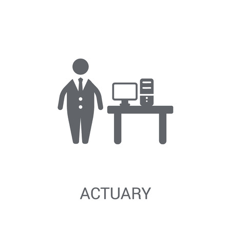 Actuary icon. Trendy Actuary logo concept on white background from business collection. Suitable for use on web apps, mobile apps and print media.