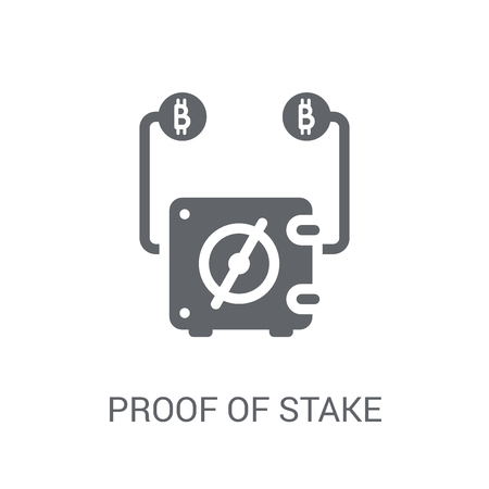 Proof of stake icon. Trendy Proof of stake logo concept on white background from Cryptocurrency economy and finance collection. Suitable for use on web apps, mobile apps and print media.