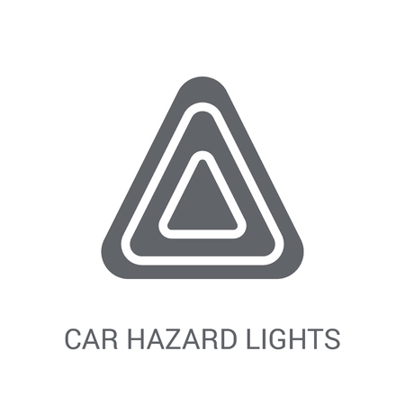 car hazard lights icon. Trendy car hazard lights logo concept on white background from car parts collection. Suitable for use on web apps, mobile apps and print media.