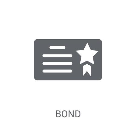 Bond-Symbol. Trendiges Bond-Logo-Konzept auf weißem Hintergrund aus der Business-Kollektion. Geeignet für den Einsatz in Web-Apps, mobilen Apps und Printmedien.
