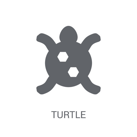 Turtle icon. Trendy Turtle logo concept on white background from animals collection. Suitable for use on web apps, mobile apps and print media. Stock Illustratie