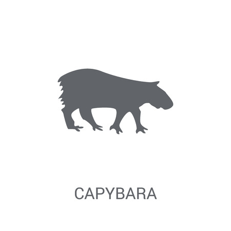 Capybara icon. Trendy Capybara logo concept on white background from animals collection. Suitable for use on web apps, mobile apps and print media. Ilustração