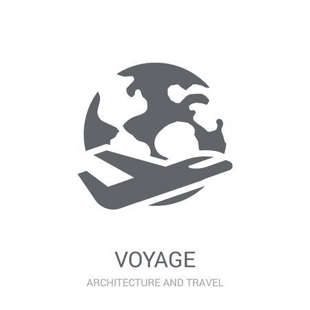 voyage icon. Trendy voyage logo concept on white background from Architecture and Travel collection. Suitable for use on web apps, mobile apps and print media. Logo