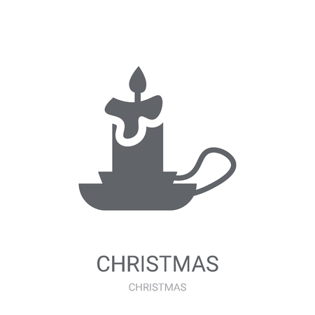 christmas candelabra icon. Trendy christmas candelabra logo concept on white background from Christmas collection. Suitable for use on web apps, mobile apps and print media.