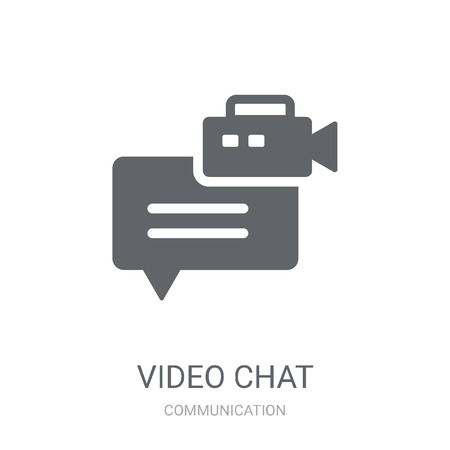 Video chat icon. Trendy Video chat logo concept on white background from Communication collection. Suitable for use on web apps, mobile apps and print media.