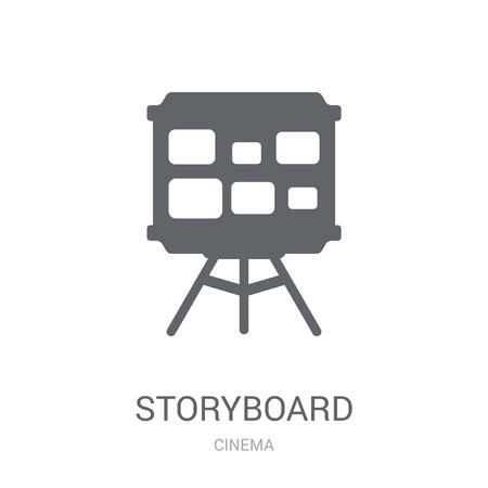 Storyboard icon. Trendy Storyboard logo concept on white background from Cinema collection. Suitable for use on web apps, mobile apps and print media.